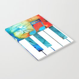 Colorful Piano Art by Sharon Cummings Notebook