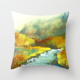 Scotland Highlands Autumn Mountains Throw Pillow