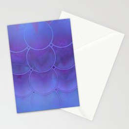 Mermaid Scales Purple and Blue Stationery Cards