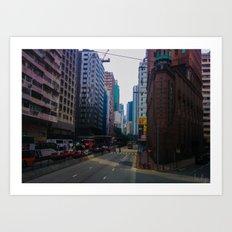 Hong Kong Triangle Art Print