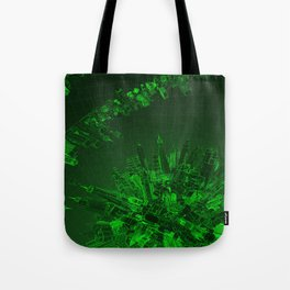 Future City Green Tote Bag