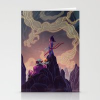 dragonball Stationery Cards featuring Dragonball - The Journey Begins by Kim Herbst