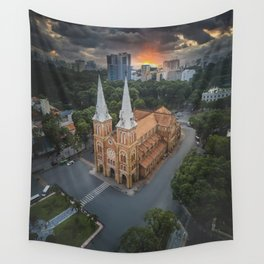 Notre-Dame Cathedral Basilica of Saigon Wall Tapestry