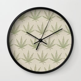 Weed Leaf Wall Clock
