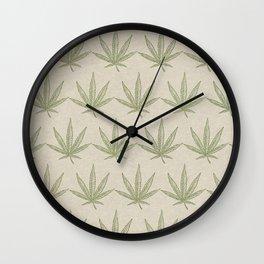 Weed Leaf Wall Clock