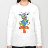 mushroom Long Sleeve T-shirts featuring mushroom by Zura