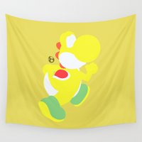 yoshi Wall Tapestries featuring Yoshi(Smash)Yellow by samaran