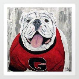 UGA Bulldog Art Print