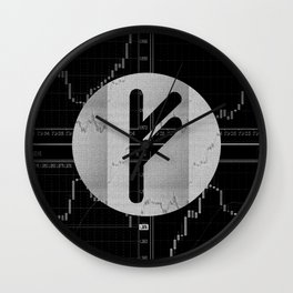 Runa Fehu for trader Wall Clock