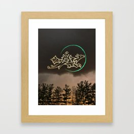 As far as the East is from the West Framed Art Print