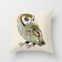 Blind Owl Throw Pillow