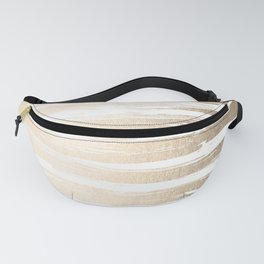 White Gold Sands Painted Stripes Fanny Pack