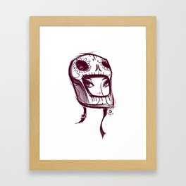 Skully Helmet Framed Art Print