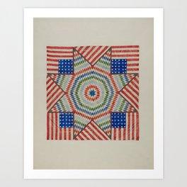 Americana Quilt Art Print