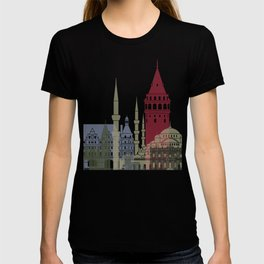 Istanbul skyline poster T-shirt