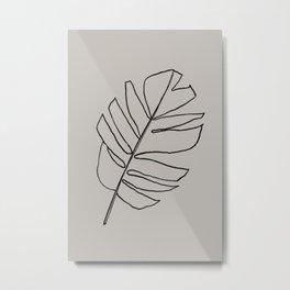 Monstera Leaf Metal Print