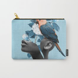 Girl with parrot Carry-All Pouch