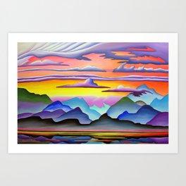 Colorful Coast Sunset Art Print