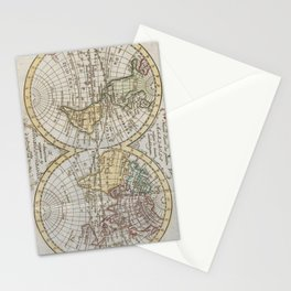Vintage Map of The World (1795) Stationery Cards