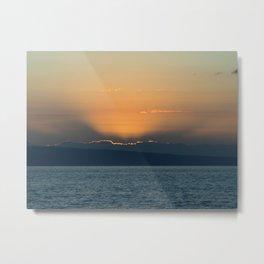 Haitian Sunset Metal Print