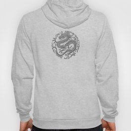 Traditional Gray and Black Chinese Dragon Circle Hoody