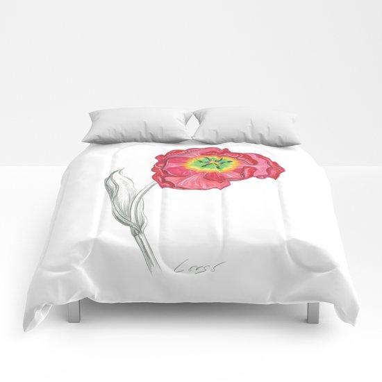 Tulip 01 Botanical Flower Comforters