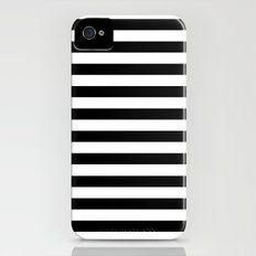 Modern Black White Stripes Monochrome Pattern iPhone (4, 4s) Slim Case