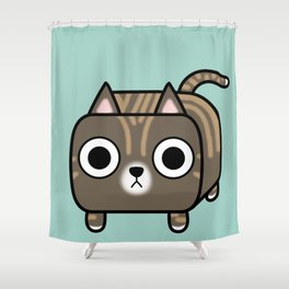 Cat Loaf - Brown Tabby Kitty Shower Curtain