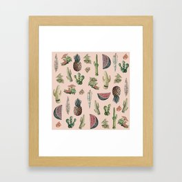 Drawing Nature Stuff Framed Art Print