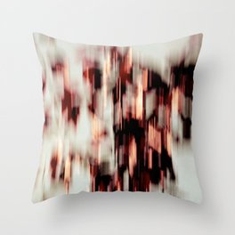 cascading colors Throw Pillow