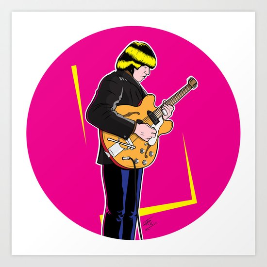 Brian Jones  Art Print