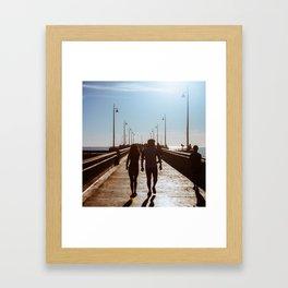 Couple on the Pier Framed Art Print