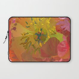 Coral Peony Flower Art #1 | Watercolor Floral Illustration Laptop Sleeve