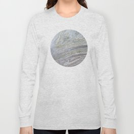 Gold, White, Grey, and Pink Long Sleeve T-shirt