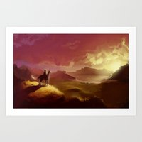 hyrule Art Prints featuring Hyrule by Attyca