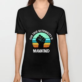 Anti Racism Equality Supporter Equality Diversity Unisex V-Neck