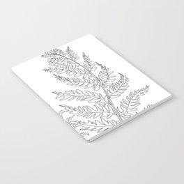 Minimal Line Art Fern Leaves Notebook