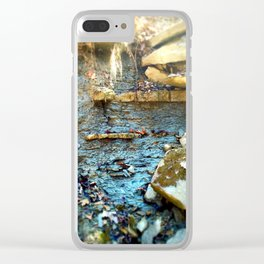 Wall of Shale Clear iPhone Case