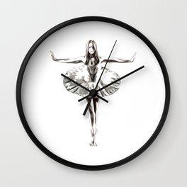 Robot Ballerina | Creepy Cyborg Ballerina Wall Clock