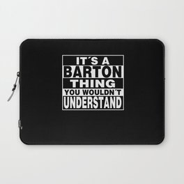 BARTON Surname Personalized Gift Laptop Sleeve