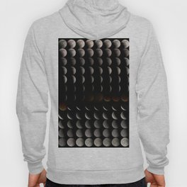 Super Moon, Blood Moon, Total Lunar Eclipse timelapse showing all phases Hoody