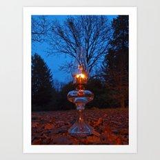 Classic oil lamp Art Print
