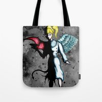 spice Tote Bags featuring Sugar & Spice by Ludwig Van Bacon