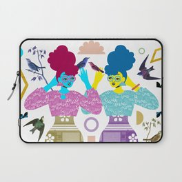 Double Birdgirls Laptop Sleeve
