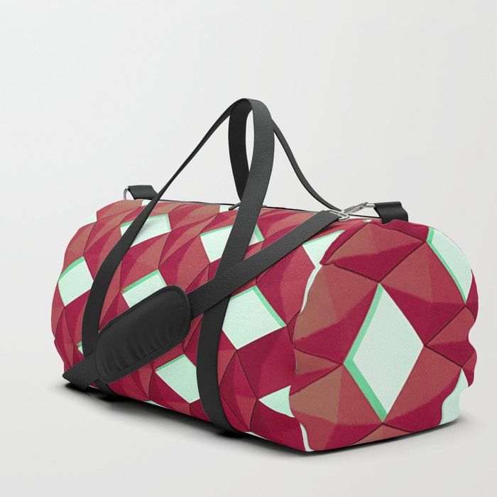 Trapez 4/5 Red and green by Brian Vegas Duffle Bag