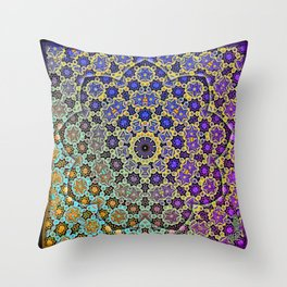 Nine patterned star  Throw Pillow