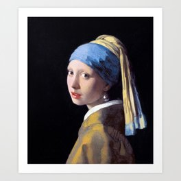 Girl with a Pearl Earring by Johannes Vermeer (c. 1665) Art Print