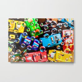 AJKG *Toy Cars + Drops* Metal Print