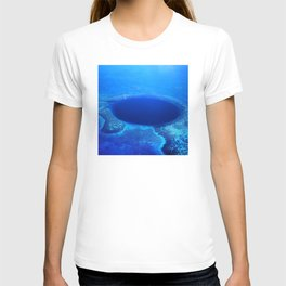 Great Blue Hole Aerial Photo, Belize T-shirt