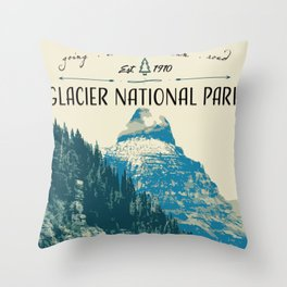 Glacier National Park - Going to the Sun Road Throw Pillow